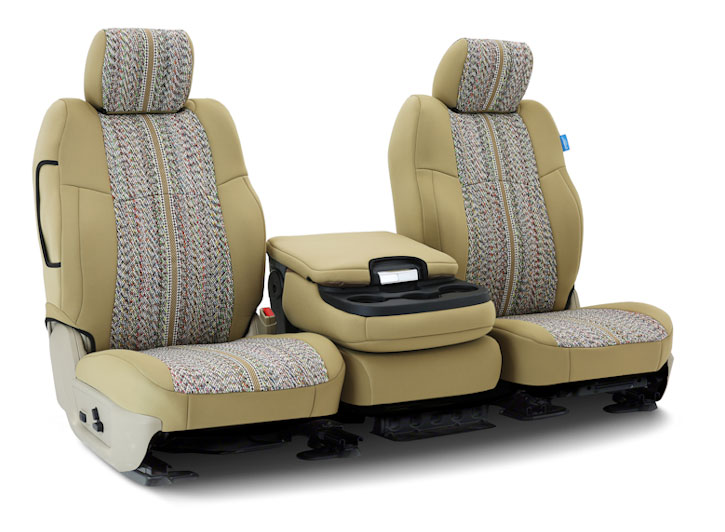 Installed Saddle Blanket 40/20/40 Front Seat Covers GrayFiat