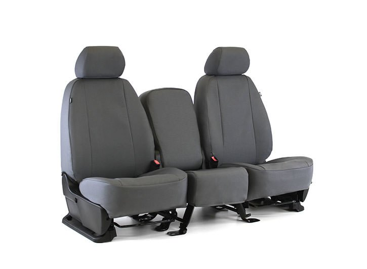 Installed Atomic Seat Covers 40/20/40 Gray