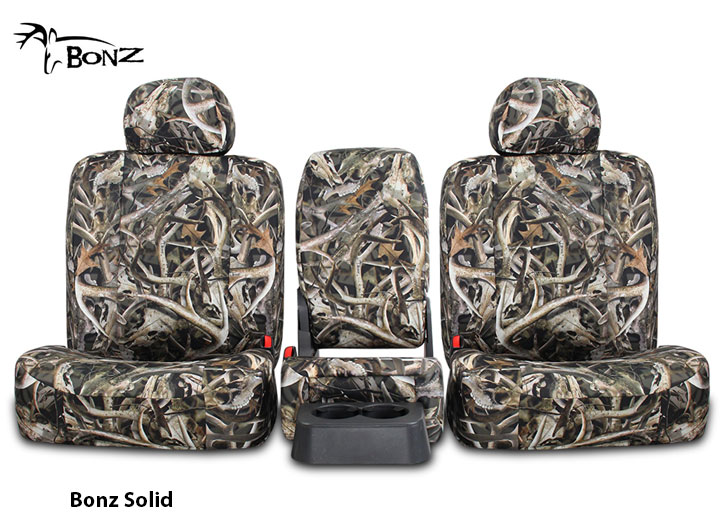 Installed Bonz Camo Bench Seat Covers Solid Bonz