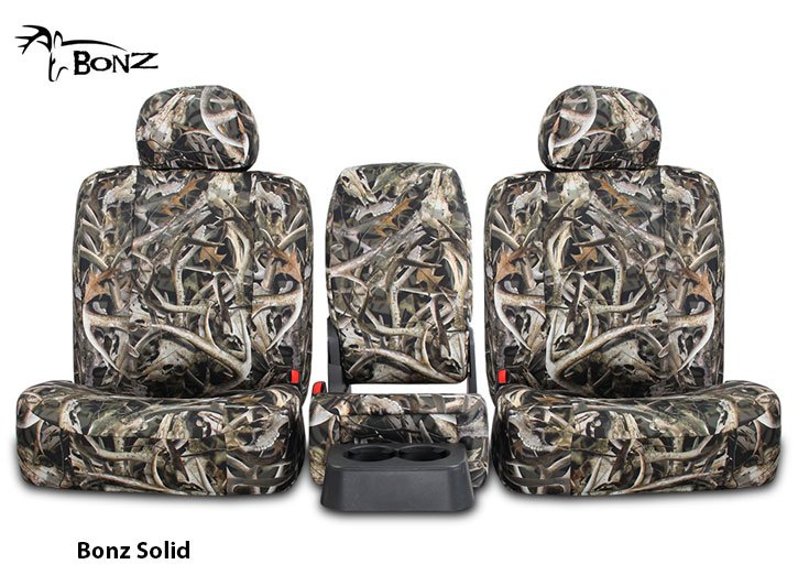 Installed Bonz Camo Bench Seat Covers Solid BonzFord F250