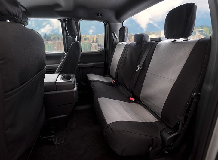 in Black w//Gray for 40//20//40 w//Folddown Opening Console and 3 Adjustable Headrests 2015-2019 Front Seats: ShearComfort Custom Waterproof Cordura Seat Covers for Ford F150 Super Cab or Super