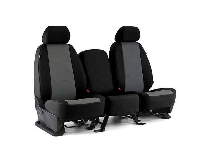 Installed Cordura Waterproof Seat Covers Black with Gray FabricMercedes