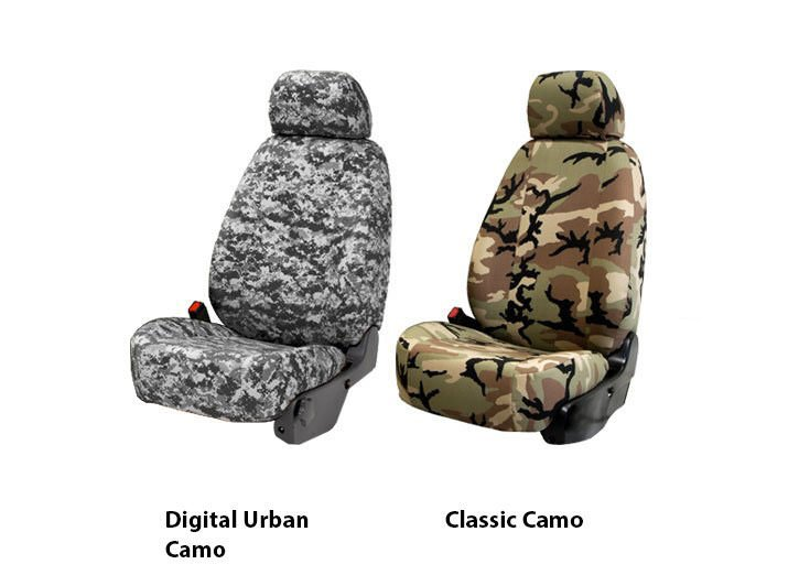 Two Military Camo Seat Covers Digital Urban and Classic for 2014 Ford Fusion