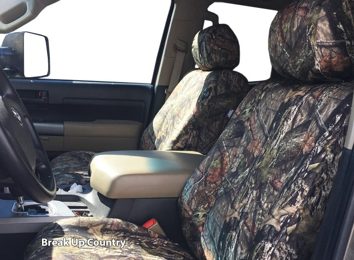 Installed Mossy Oak Camo Seat Covers Break Up Country for 2014 Ford Fusion