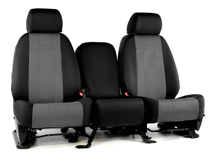 Installed Neoprene Seat Covers 40/20/40 Black w/ CharcoalMercury