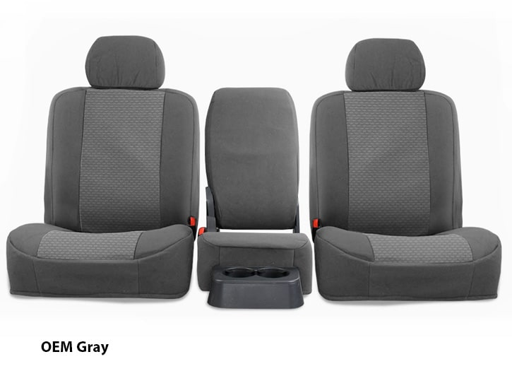 Installed OEM Seat Covers GrayMazda