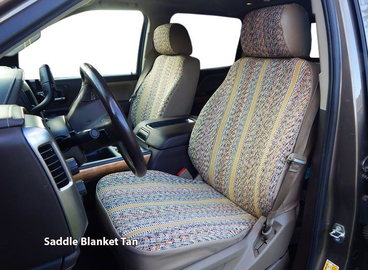 Installed Saddle Blanket Western Seat Covers TanHonda Ridgeline