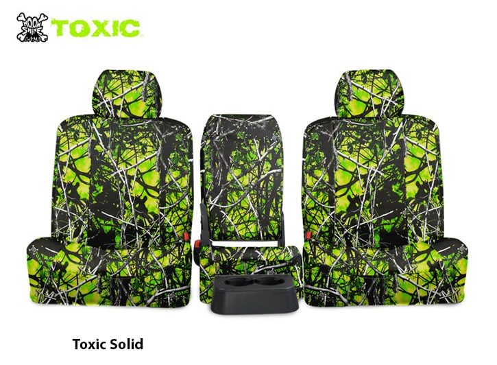 Installed Toxic Camo Seat Covers