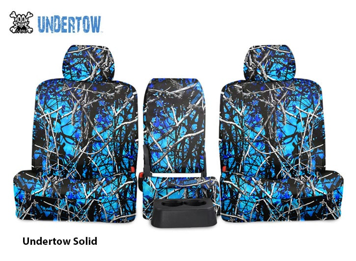 Installed Blue Camo Seat Covers Solid UndertowFord Explorer