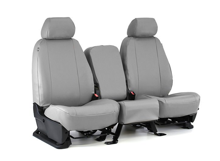 Installed Vinyl Seat Covers 40/20/40 Gray for 2014 Ford Fusion